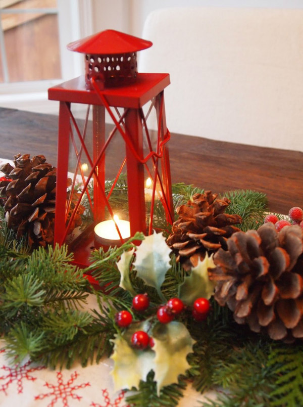 candle decoration for christmas lantern - Christmas Candle Decorations