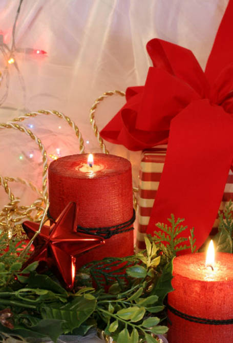 Top christmas candle decorations ideas