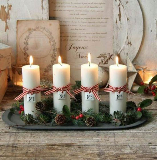 christmas candle decoration ideas 29 - Christmas Candle Decorations
