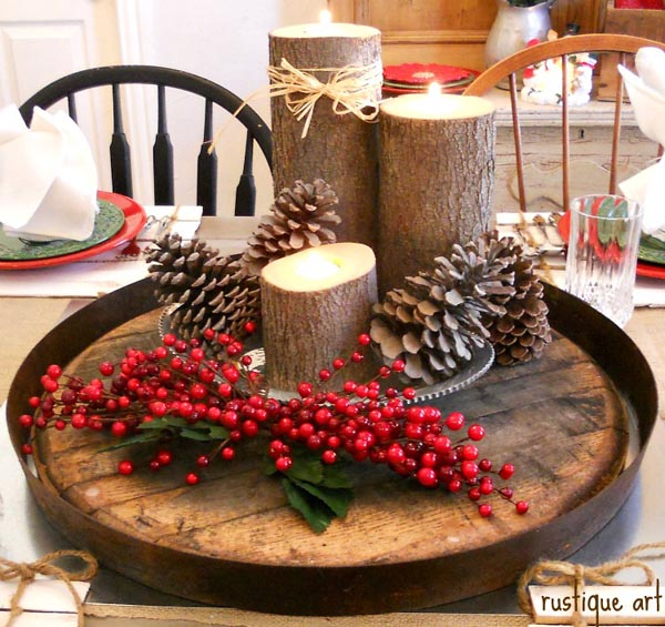 christmas candle decoration ideas 45 - Christmas Candle Decorations