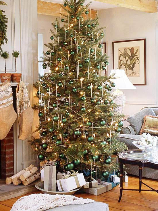green christmas tree decorating ideas - Traditional Christmas Tree Decorating Ideas