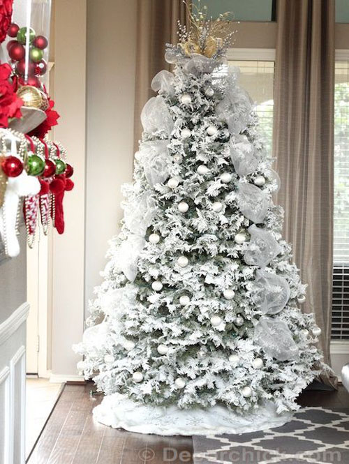 Beautiful Christmas Decorated Living Rooms Picture Window: Most Beautiful Christmas Tree Decorations Ideas