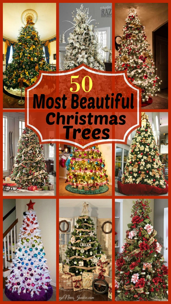 beautiful christmas trees - Beautifully Decorated Christmas Tree Images