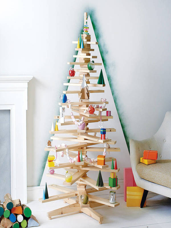plywood christmas tree source - Large Wooden Christmas Decorations