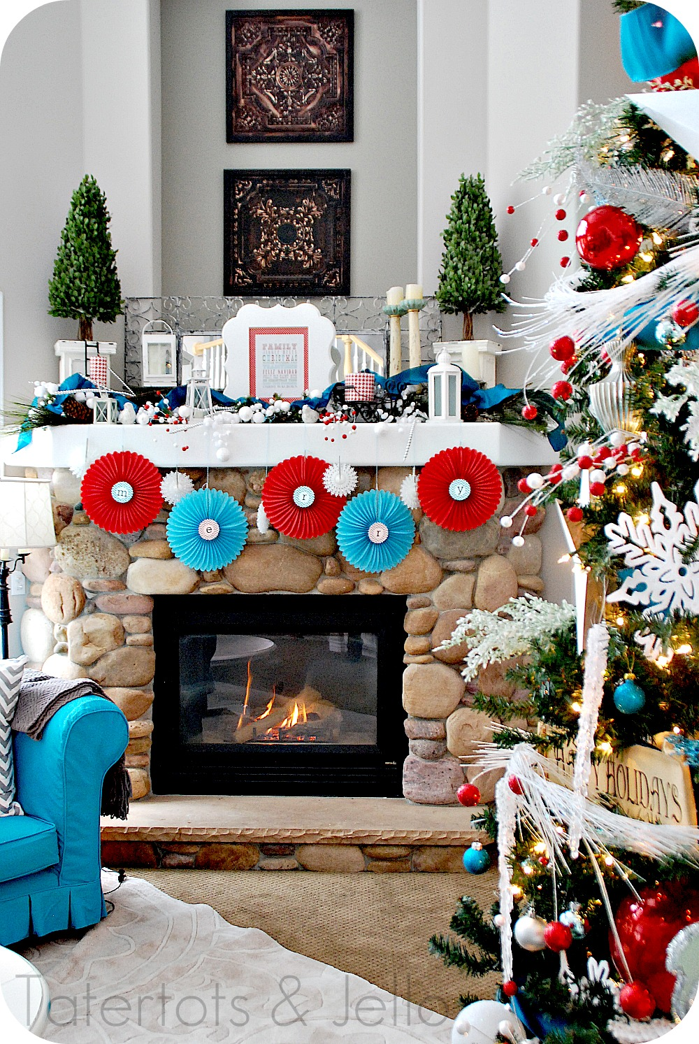 top christmas mantel decorations celebration all about - Best Christmas Mantel Decorations