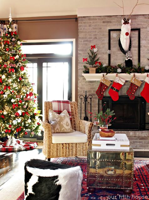 most pinteresting christmas living room decoration ideas