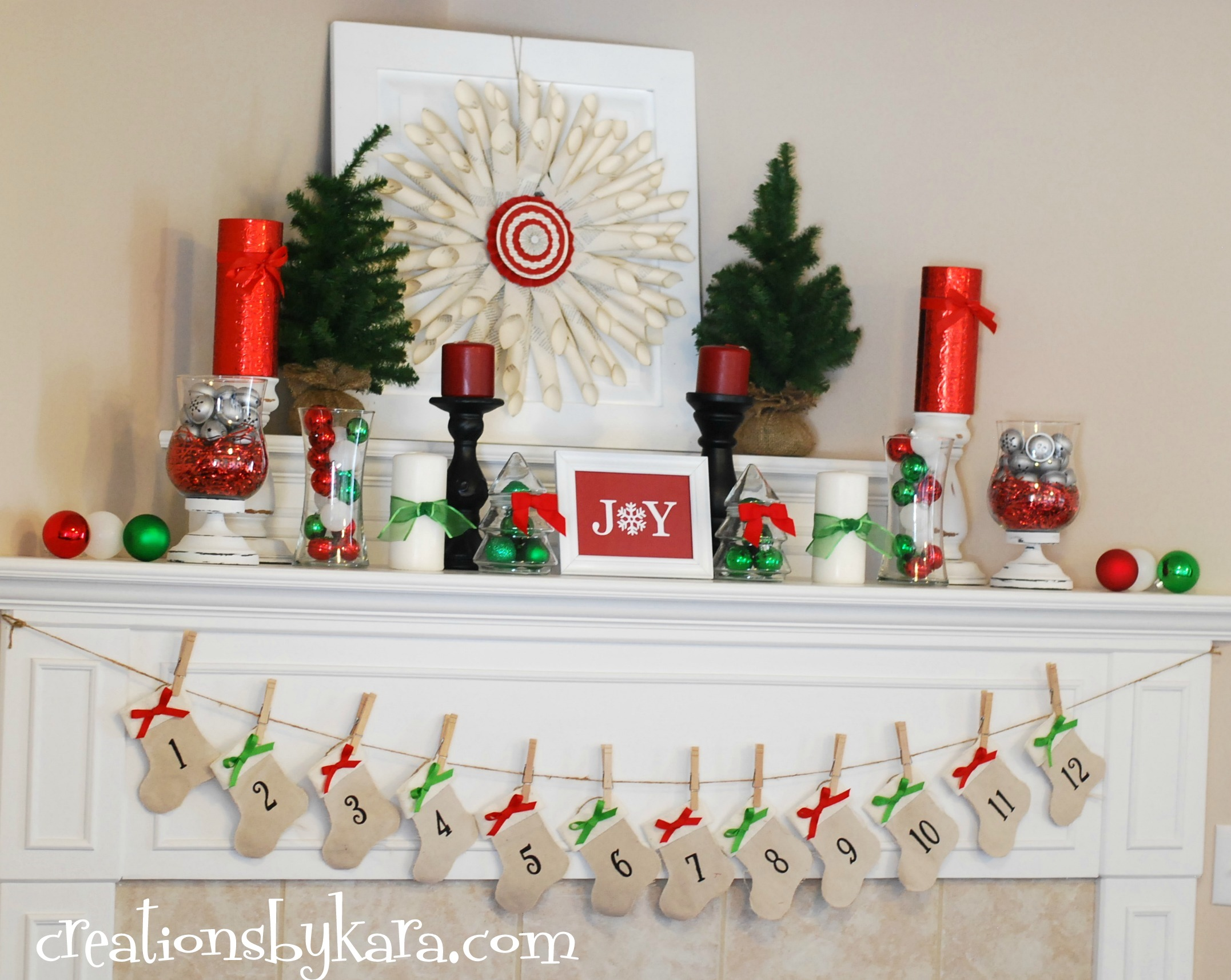 Christmas mantle decor - Top 40 Christmas Mantelpiece Decorations Ideas