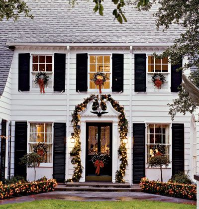 Superbe Colonial House Christmas Decoration Ideas Psoriasisguru Com