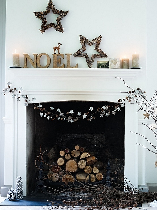 minimalist fireplace decoration source - How To Decorate A Fireplace Hearth For Christmas