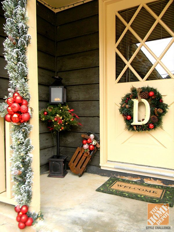 country christmas porch source - Country Style Christmas Decorations