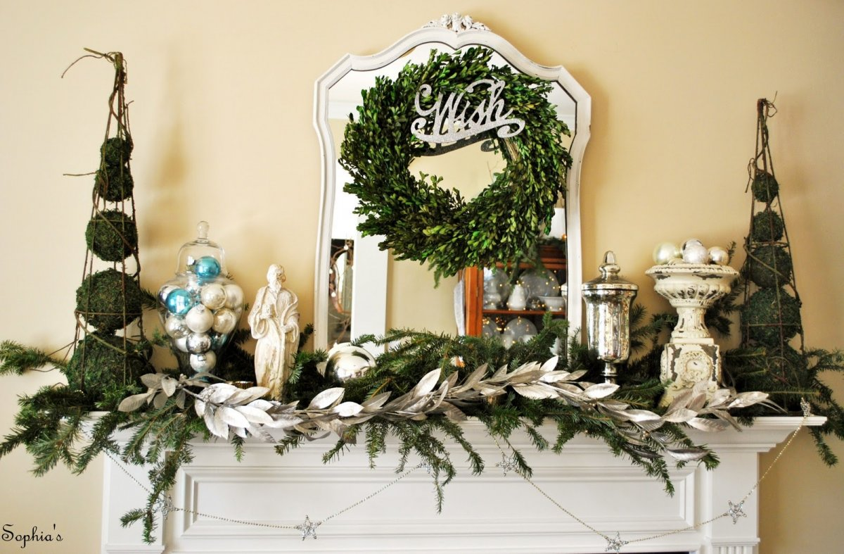 source - Pictures Of Mantels Decorated For Christmas