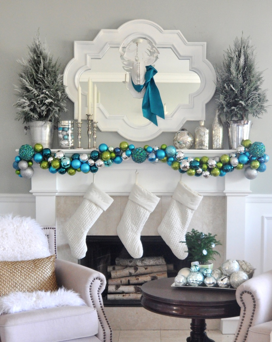 source - Beautiful Mantel Christmas Decorations