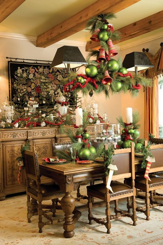 country tablescape source - Country Style Christmas Decorations