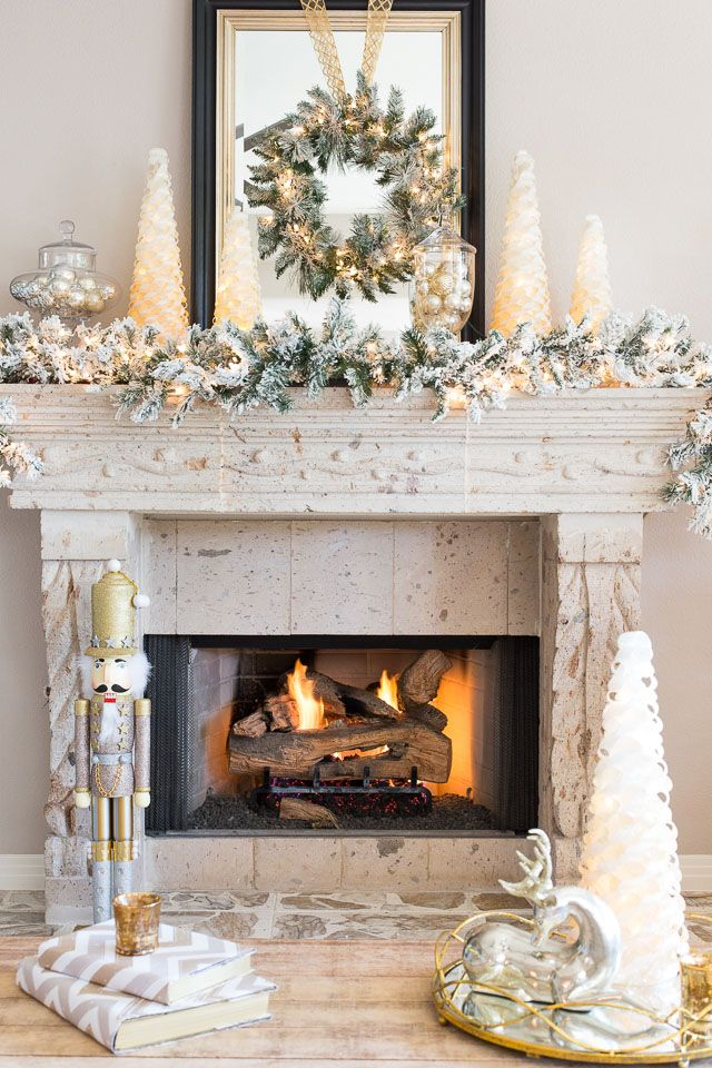 source - Mantelpiece Christmas Decorations