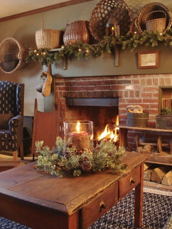 source - Simple Country Christmas Decorating Ideas