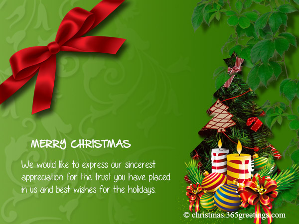 Business Christmas Messages and Greetings - Christmas ...