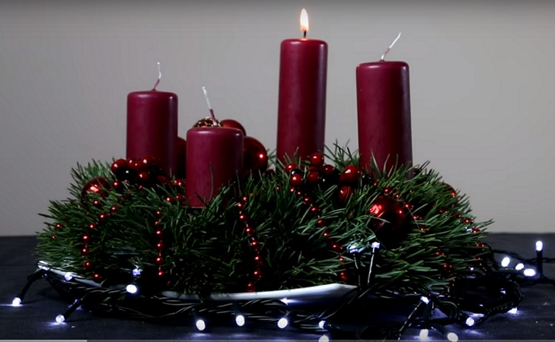 christmas candle decorations youtube