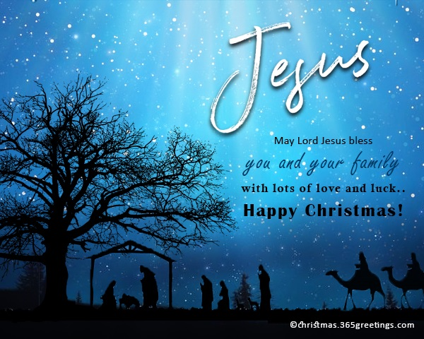 Christian Christmas Cards with Messages and Wishes - Christmas ...
