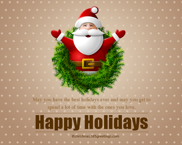 Christmas Holidays Pictures.Happy Holidays Messages And Wishes Christmas Celebration