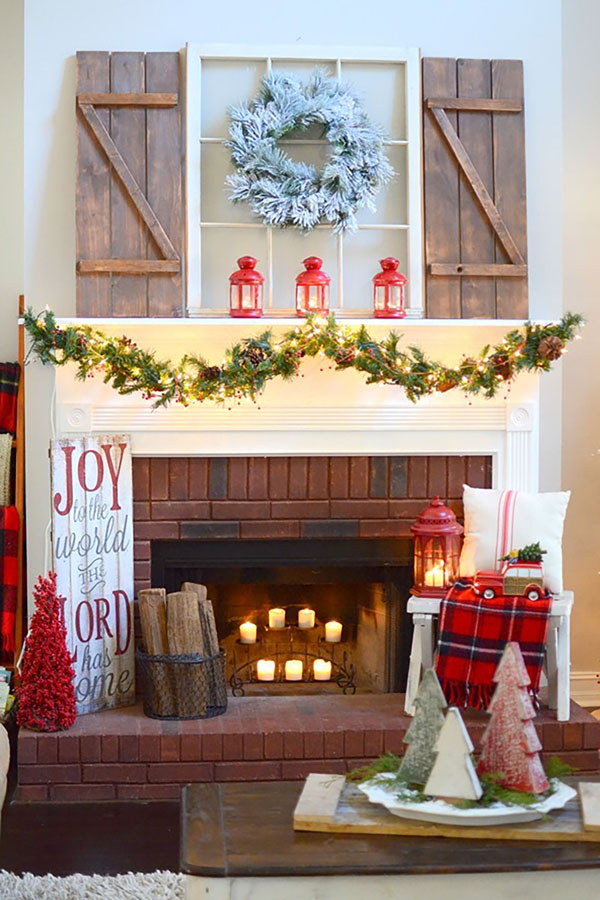 distressed doors or windows you can probably buy for a song in garage sales can be a great mantel dcor for all occasions this christmas distressed wood - Christmas Mantel Decorations For Sale