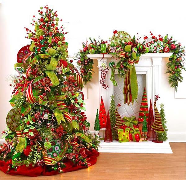 Most pinteresting christmas trees on pinterest christmas for 2014 christmas tree decoration