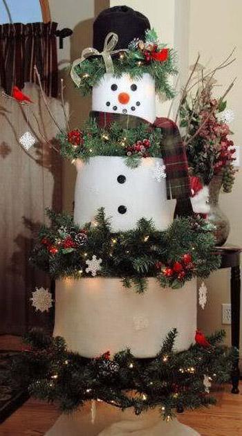 diy-snowman-christmas-tree