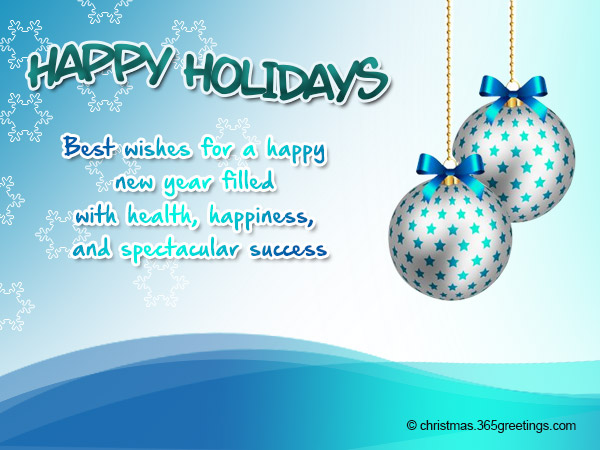 Happy Holidays Messages And Wishes - Christmas Celebrations