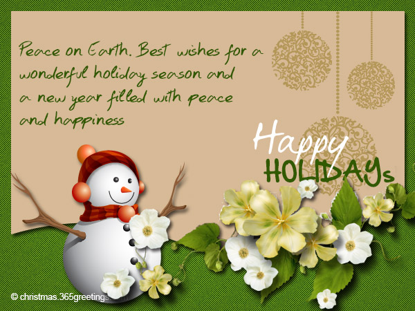 Happy holidays messages and wishes christmas celebration all happy holidays cards 05 m4hsunfo