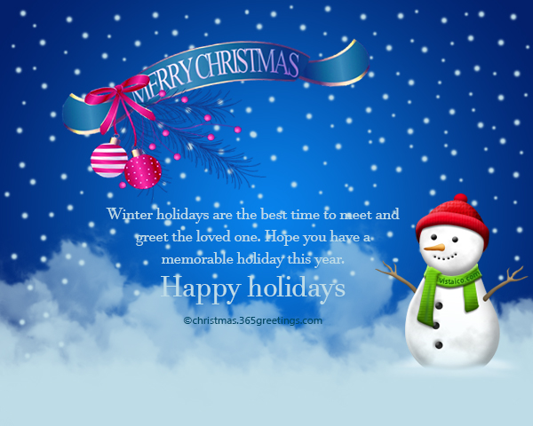 Happy Holidays Messages And Wishes  Christmas Celebration  All
