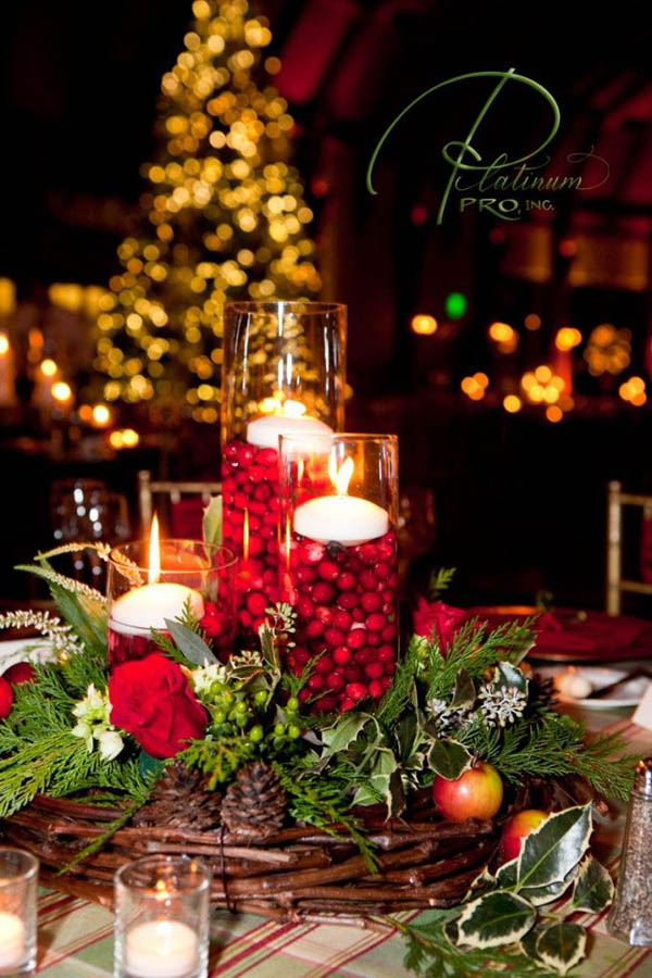 Most popular indoor christmas decorations on pinterest for Indoor xmas decorating ideas
