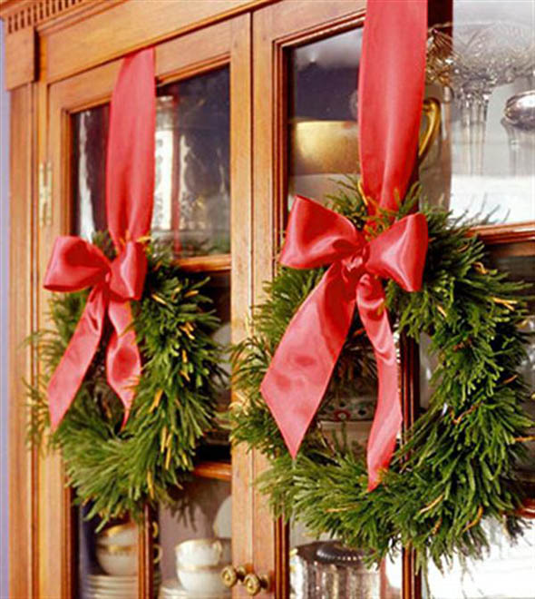 Top Of Kitchen Cabinet Christmas Decorating Ideas
