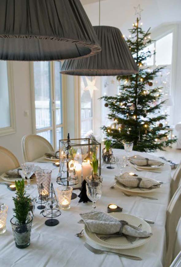 Top scandinavian christmas decorations christmas - Christmas table setting ideas ...