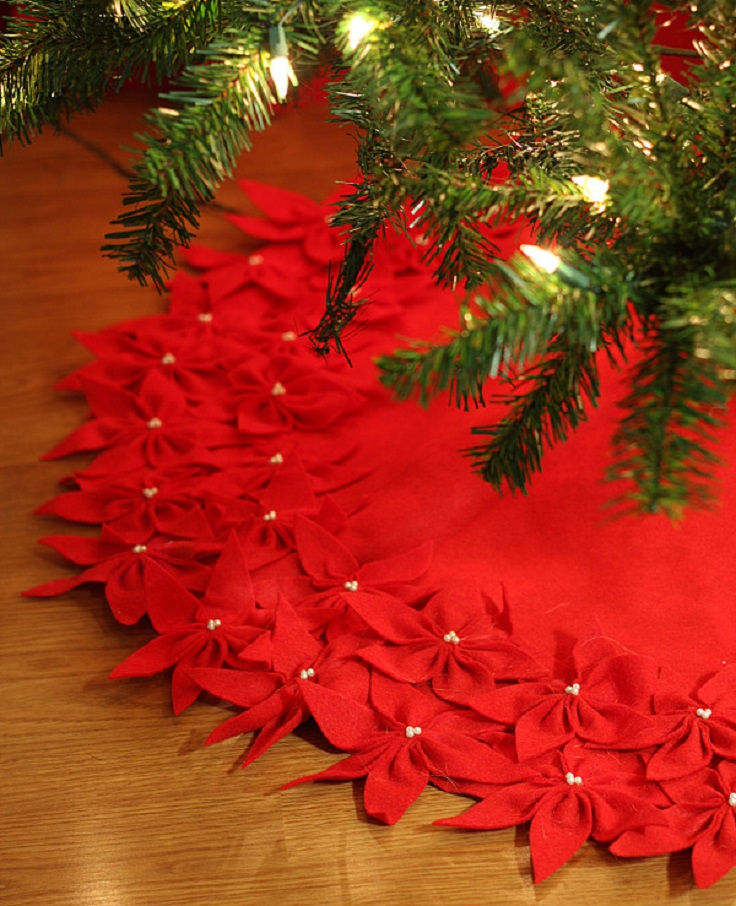 Diy Christmas Tree Skirt No Sew