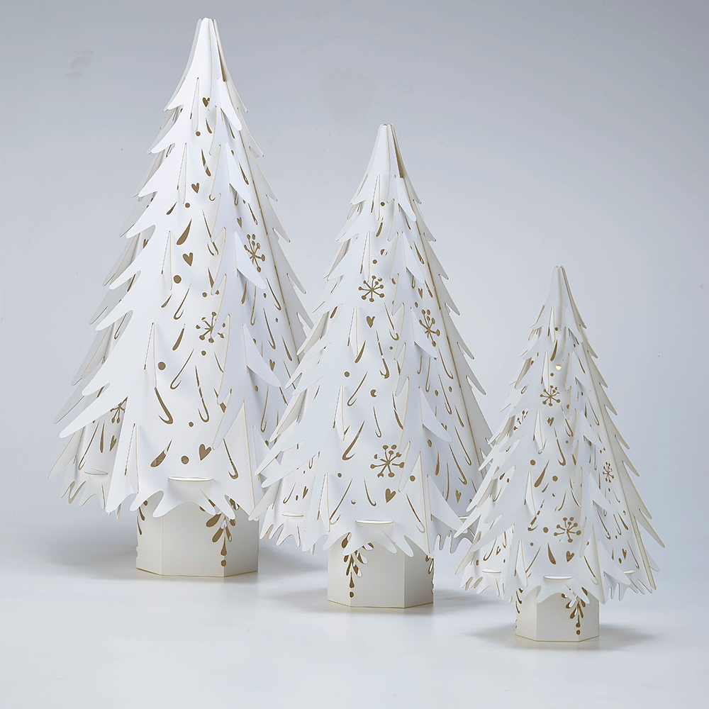 paper christmas tree source - Paper Christmas Tree Decorations