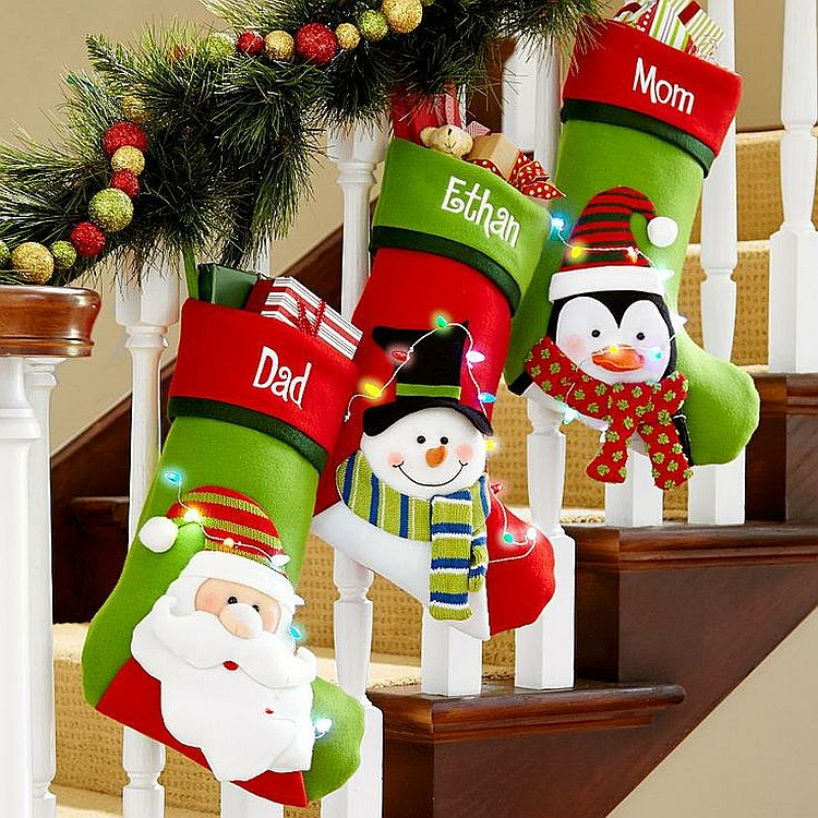 fun filled decoration - How To Decorate Stairs For Christmas