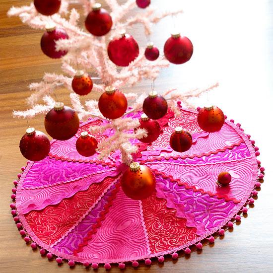 source - Pink Christmas Tree Skirt