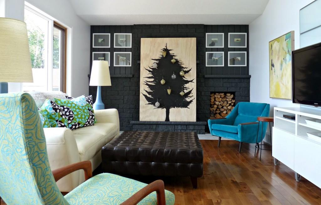 Top 40 modern christmas decoration ideas christmas for Multi color living room ideas