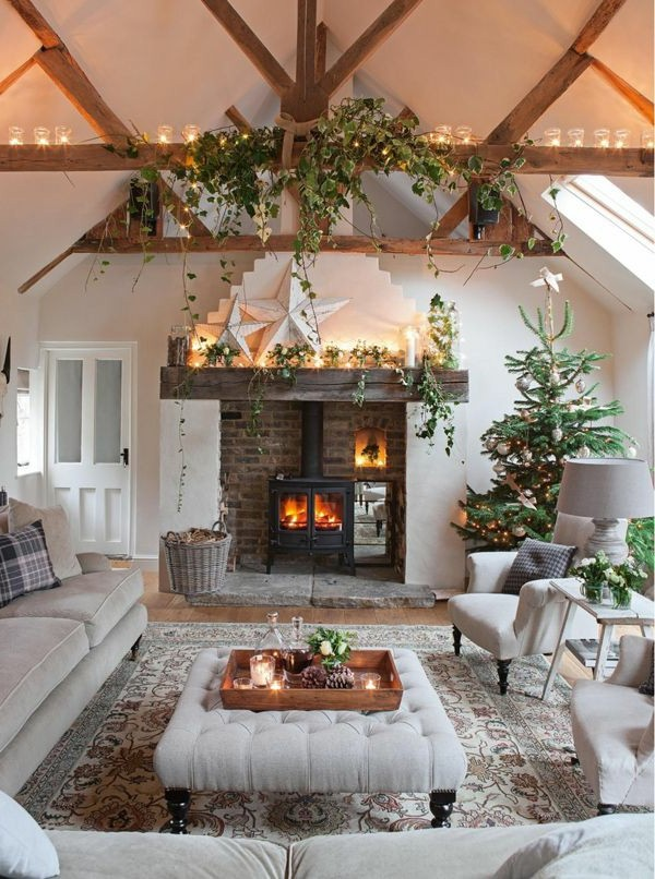 A White Living Room: White Christmas Decorations Ideas Source