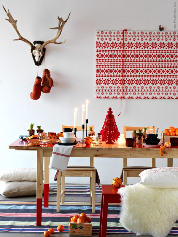 Modern Christmas Living Decoration Ideas