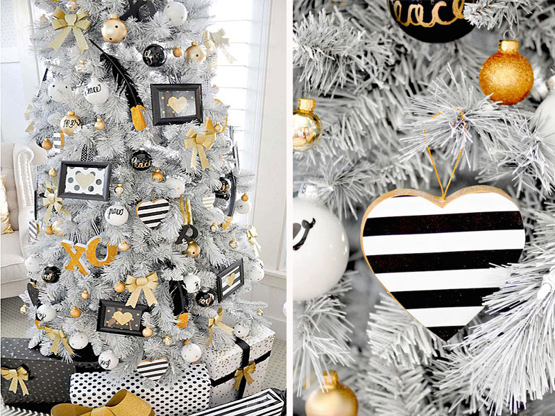 Top 40 modern christmas decoration ideas christmas for Modern gold christmas tree