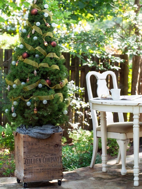 Terrazas con decoración para Navidad