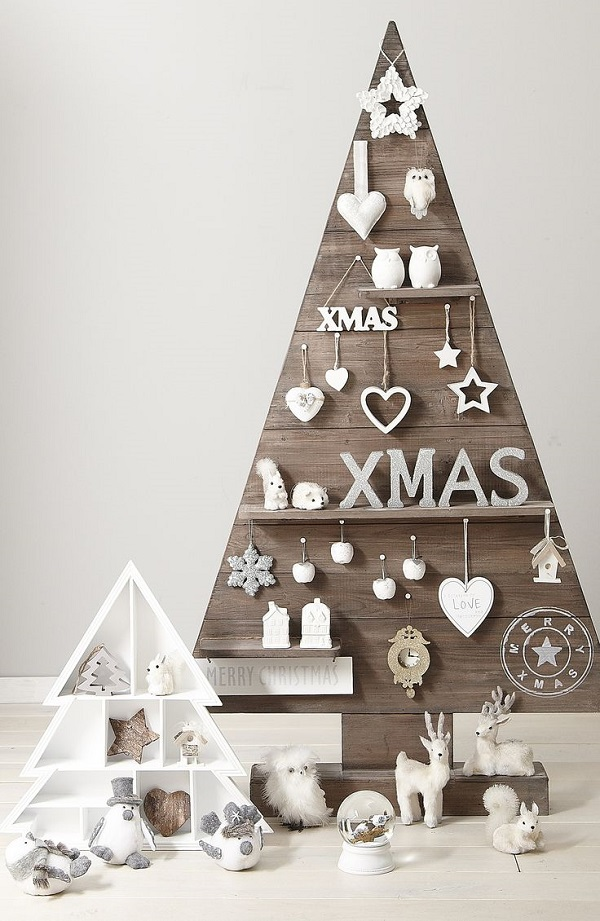 wooden outdoor christmas tree decorations