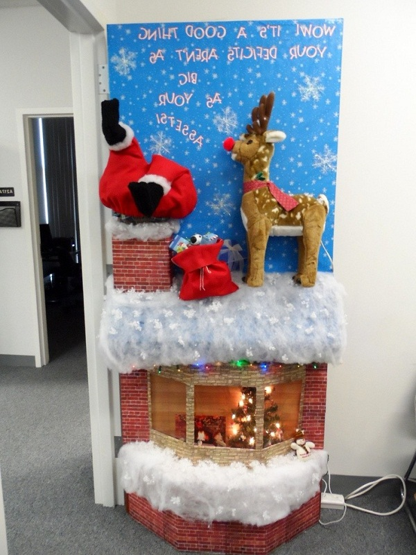 Creative Christmas Office Door Decoration  Christmas Inspiration  Pinterest