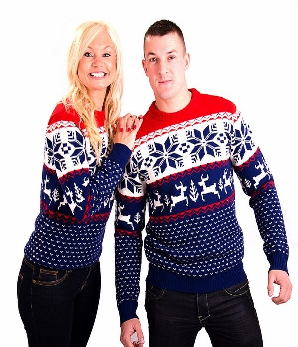 Couples Christmas Sweaters.Top 40 Matching Christmas Sweaters Designs You Must Try