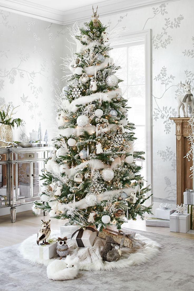 white christmas tree - Images Of White Christmas Trees Decorated