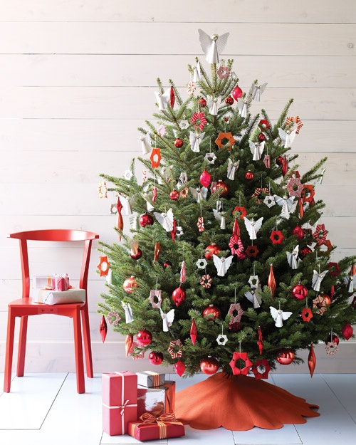 red and white christmas tree source