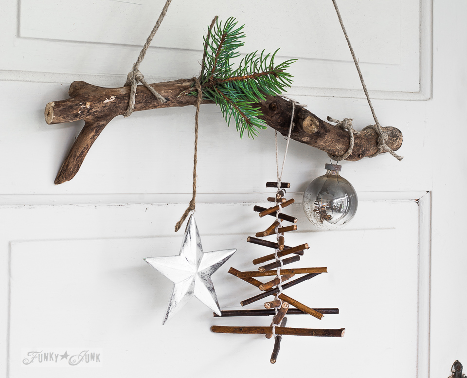 top 40 christmas decoration made with twigs and branches christmas celebration all about. Black Bedroom Furniture Sets. Home Design Ideas