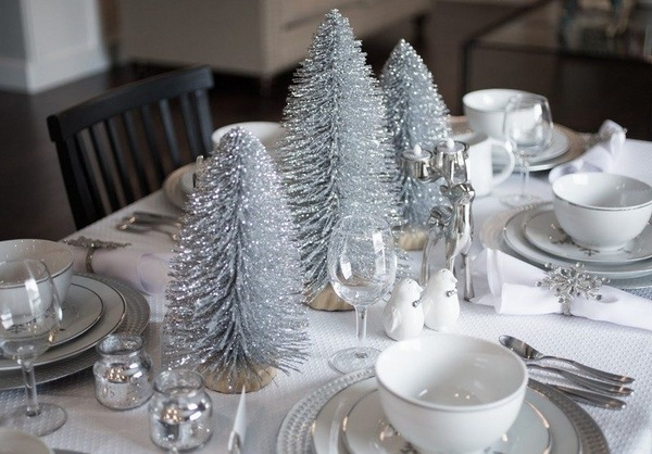Source & Top Silver And White Christmas Decoration Ideas - Christmas ...