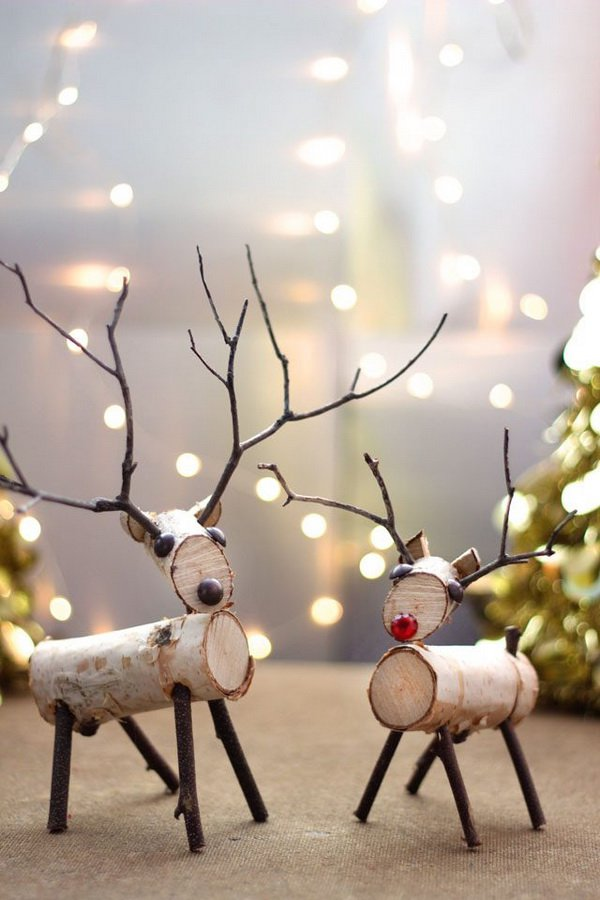 Twig Decor top 40 christmas decoration made with twigs and branches