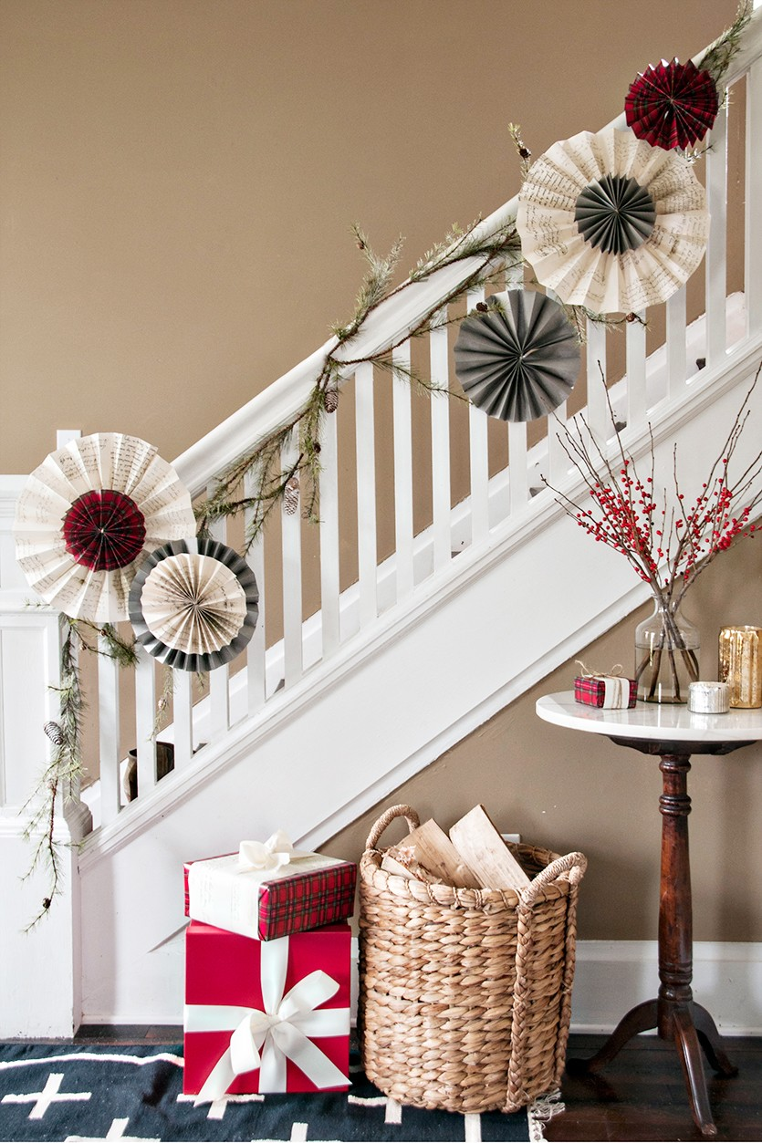 christmas banister decoration source